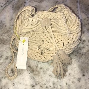BCBG Crocheted Crossbody bag
